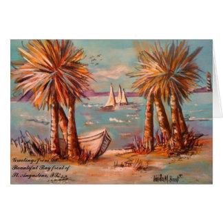 St Augustine Bayfront Greeting Card