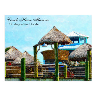 St. Augustine Conch House Marina Postcard