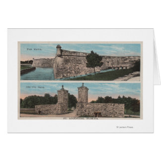 St. Augustine, FL - View of Ft. Marion & City Card
