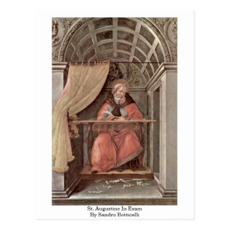 St. Augustine In Exam By Sandro Botticelli Postcard