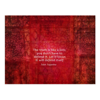 St. Augustine inspirational quote on TRUTH Postcard