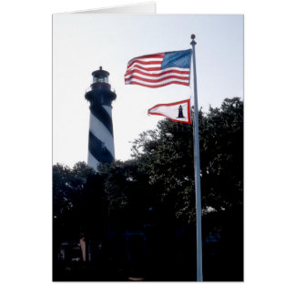 St Augustine Lighthouse and Flages Card