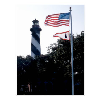 St Augustine Lighthouse and Flages Postcard