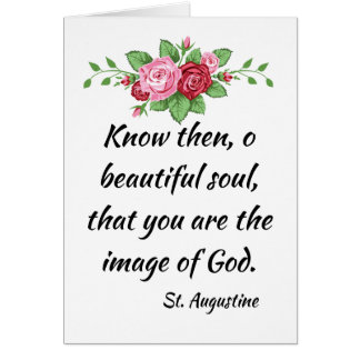 St. Augustine Quote with Roses Card