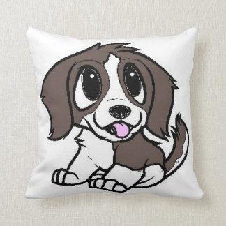 st bernard cartoon white and brown cushion