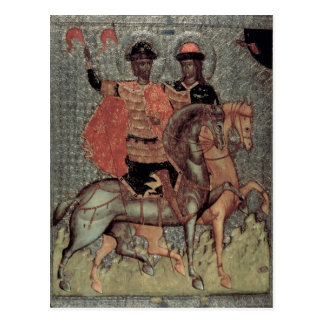 St. Boris and St. Gleb Mounted, c.1377 Postcard