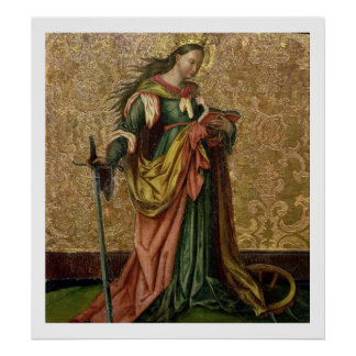 St. Catherine of Alexandria (oil on panel) 2 Poster