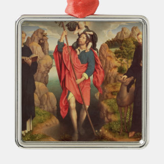 St. Christopher , 1484 Silver-Colored Square Decoration
