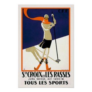 St. Croix Switzerland Skiing Poster