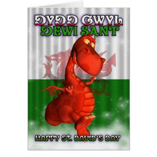 St. David's Day, Welsh Card, Dydd Gwyl Dewi Sant Card
