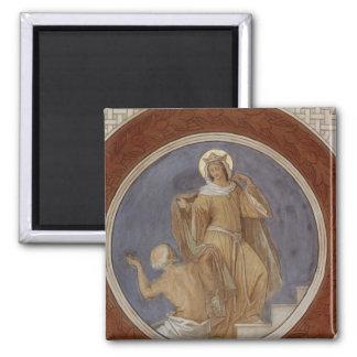 St. Elisabeth giving her Coat to a Beggar Magnet
