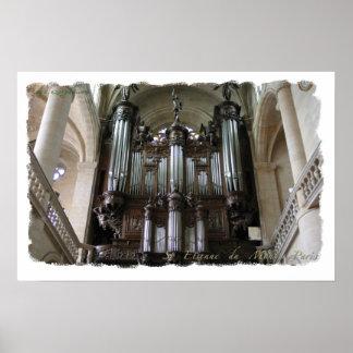 St Etienne du Mont organ poster