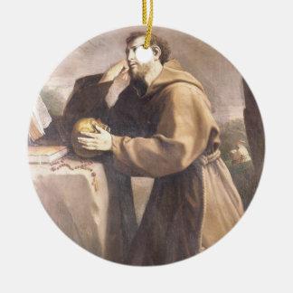 St. Francis of Assisi at Prayer Christmas Ornament