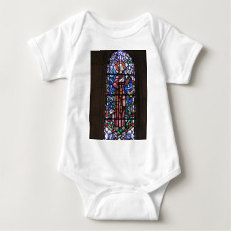 St Francis of Assisi stained glass Baby Bodysuit