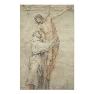 St. Francis Rejecting the World and Embracing Poster