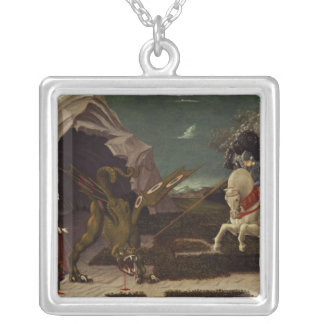 St. George and the Dragon, c.1470 Silver Plated Necklace