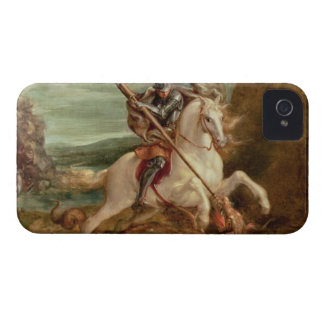 St. George slaying the dragon, (oil on panel) iPhone 4 Cases
