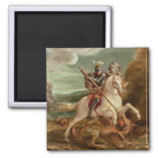 St. George slaying the dragon, (oil on panel) Magnet