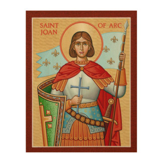 St Joan of Arc Wood Wall Art
