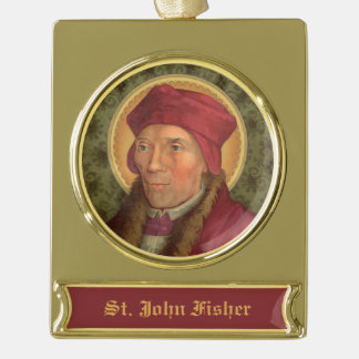 St. John Fisher (SAU 025) Gold Plated Banner Ornament