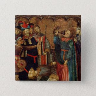 St. John the Evangelist Drinking 15 Cm Square Badge