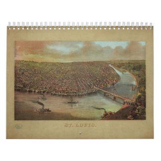 St. Louis Missouri by George Degen from 1873 Calendar