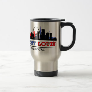 St. Louis Skyline Design Travel Mug