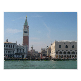 St. Mark's Square from Boat Poster
