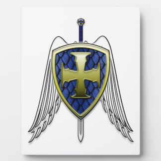 St Michael - Dragon Scale Shield Display Plaque
