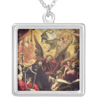 St. Nicholas of Tolentino Silver Plated Necklace