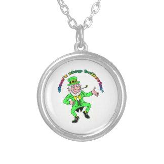 St Patrick s Day Leprechaun Don t Stop Believing Custom Necklace