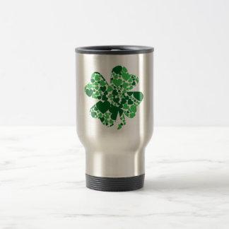 St. Patrick's Day Shamrock Clover Travel Mug