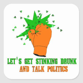 St. Patrick's Boxing Day Square Sticker
