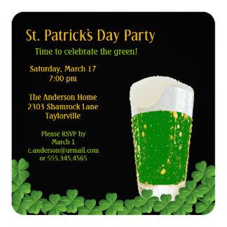 St. Patrick's Day Beer Invitation