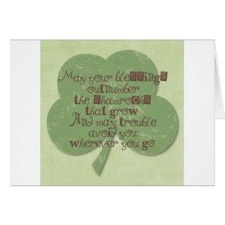 St. Patricks Day Blessing Greeting Card