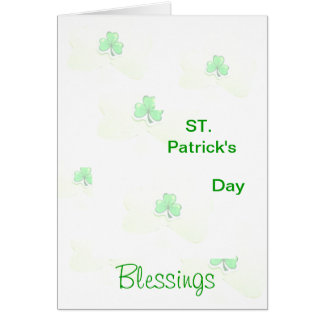 ST. Patrick's Day Blessings Card