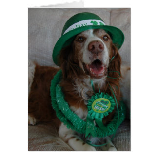 ST PATRICK'S DAY BRITTANY GREETING CARD