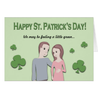 St. Patricks Day Card and Pregnancy Announcement
