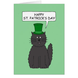 St Patrick's Day Cat. Greeting Card