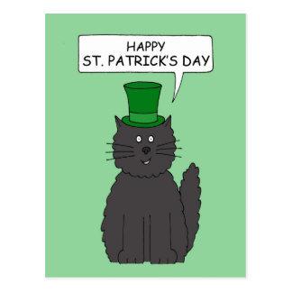 St Patrick's Day Cat. Postcard
