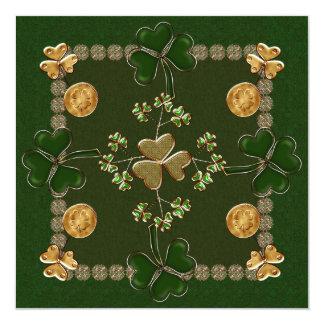 St. Patricks Day Celebration 13 Cm X 13 Cm Square Invitation Card