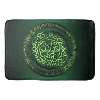 St. Patrick's Day - Celtic Pattern Round Bath Mat