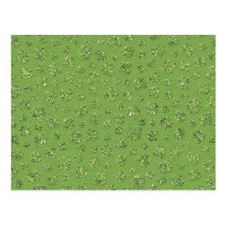 St. Patrick's Day Clover Leaf Postcard