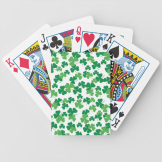 St. Patricks day clover pattern Bicycle Playing Cards