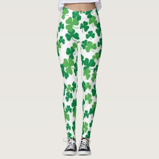 St. Patricks day clover pattern Leggings