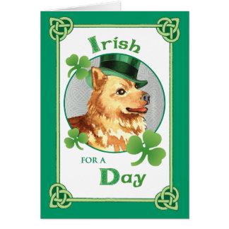 St. Patrick's Day Finnish Spitz Greeting Card