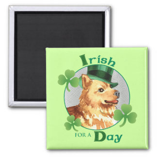 St. Patrick's Day Finnish Spitz Square Magnet