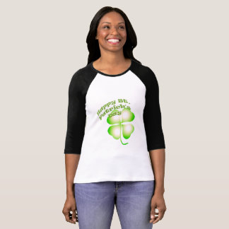 St Patrick's Day Four Leaf Clover Tshirt