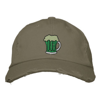 St. Patrick's Day Green Beer Embroidered Caps Embroidered Cap
