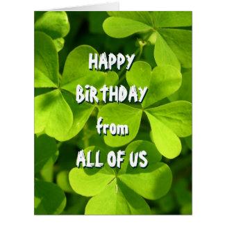 St. Patrick's Day Irish Birthday From All Card